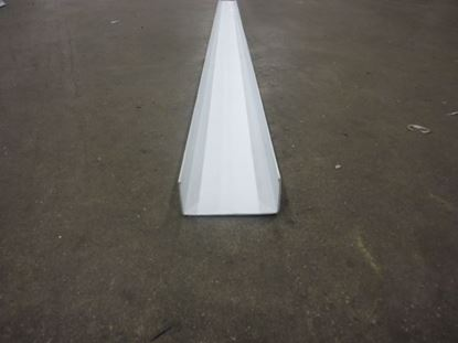 """Picture of U screed 5""""x96"""" white PVC 0303-00010"""